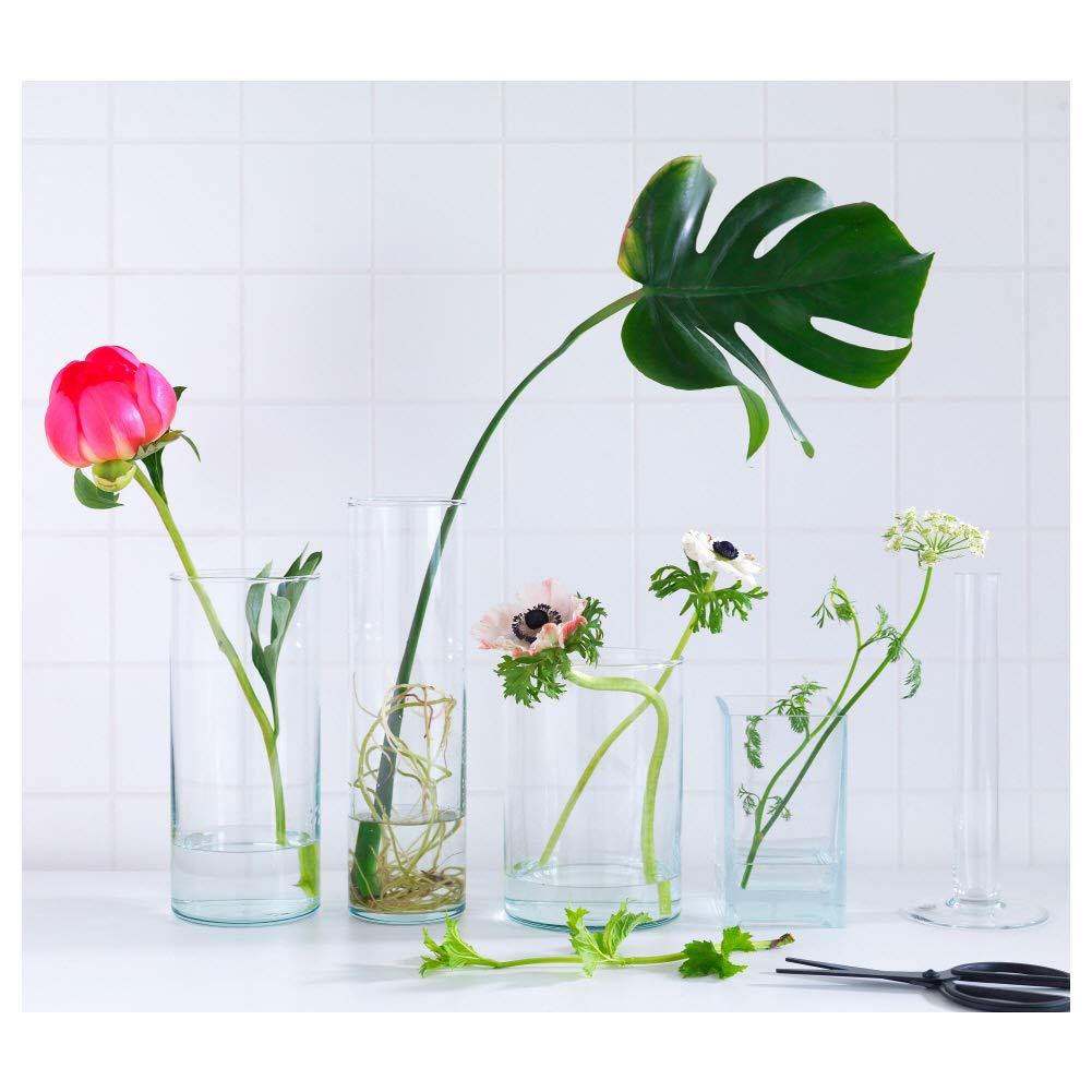 IKEA ASIA Cilindro Vaso Vetro Trasparente Set da 3