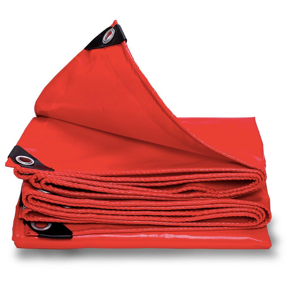 Super Kh® 防水用タパリン赤厚い重い日焼け止めの色合い耐性引き裂き用防水シート0.4mm-530g/㎡ (サイズ さいず : 2X6m) 2X6m  B07HF664V4