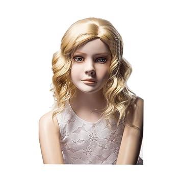 Amazon Com Kolight 16 Children Kids Girls Fashion Exquisiteness Cute Short Blonde Curly Hair Extensions Wig Free Cap Comb Beauty