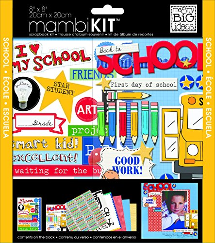 (me & my BIG ideas Scrapbook Page Kit, I Heart My School, 8-Inch by 8-Inch)