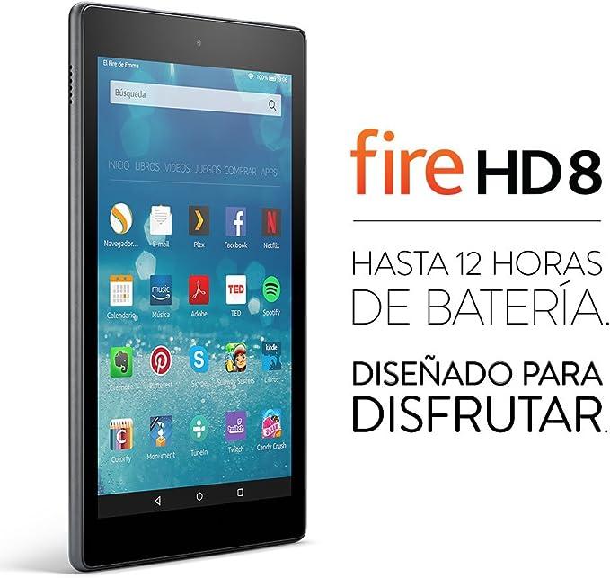 Tablet Fire HD 8, pantalla HD de 8 (20,3 cm), Wi-Fi, 32 GB (Negro) - Incluye ofertas especiales: Amazon.es