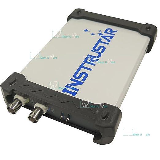 Equipo de ensayo basado en PC USB 2 en 1 Osciloscopio Digital Virtual 2 canales 60 MHz 200 msa/s analizador de espectro: Amazon.es: Bricolaje y herramientas