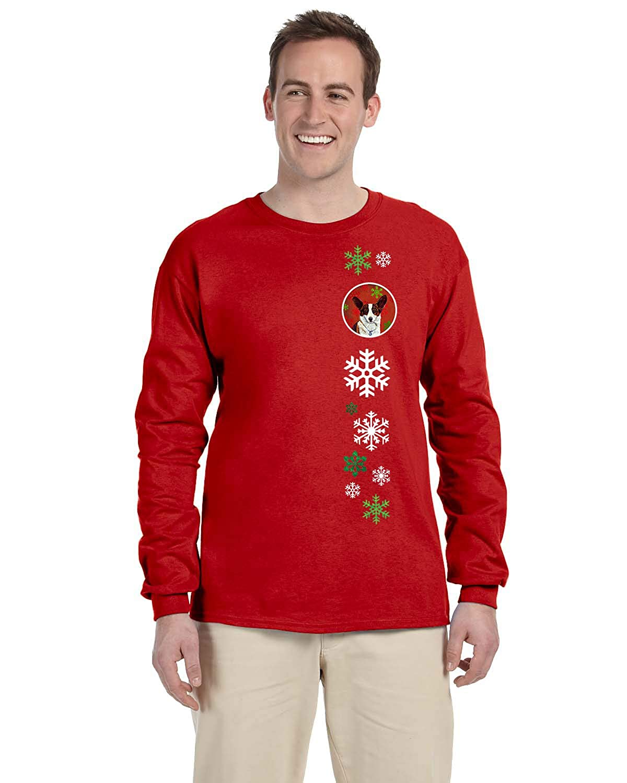 M Carolines Treasures LH9333-LS-RED-M Corgi Red Snowflakes Long Sleeve Red Unisex Tshirt Adult Medium Multicolor