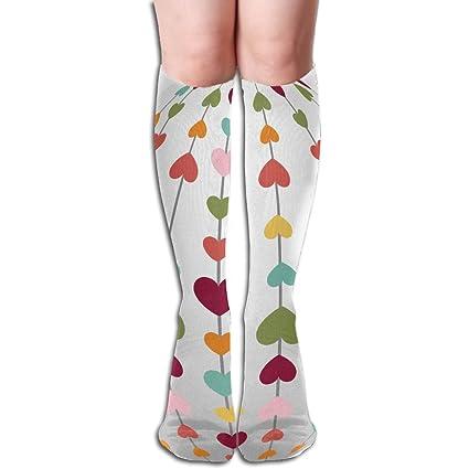 e8309f8ad Amazon.com  Tube Knee High Socks 50CM Happy Easter Hunt Egg Men s ...