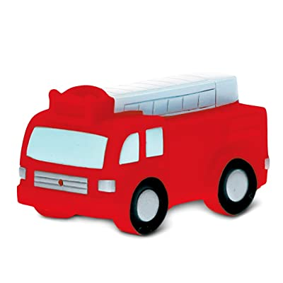 DolliBu COTA Global Bath Buddies Red Fire Truck - 3 Inch - Squirter Bath Toy - Item #2802: Toys & Games