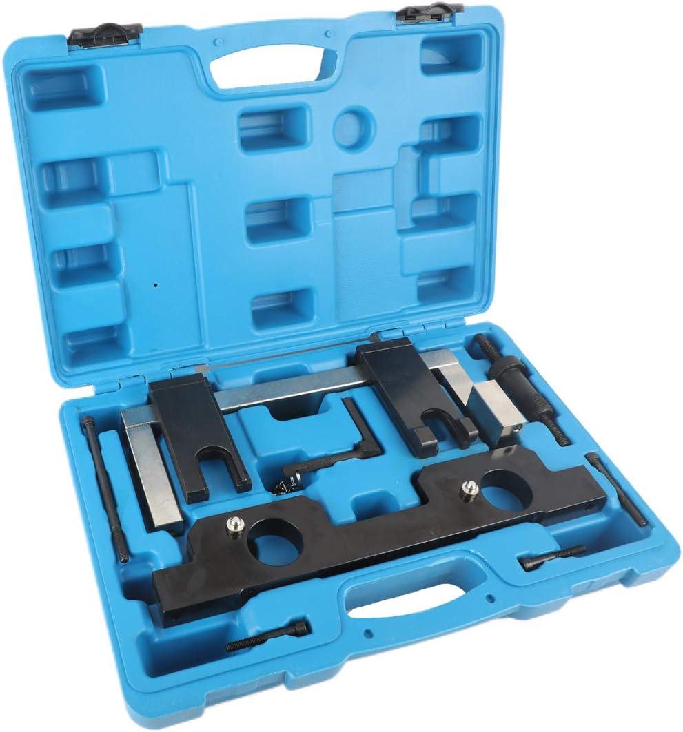 Mrcartool Engine Timing Belt Tools Camshaft Crankshaft Alignment Locking Tool Kit for BMW N20,N26 Engines