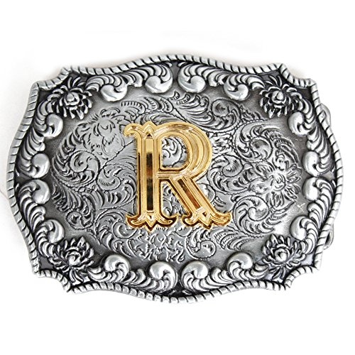 Pancy Western Style Cowboy Letter Belt Buckle For Men - Letter Belt Buckle