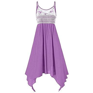 Dresslily Plus Size Lace Embellished Asymmetrical Slip Dress For