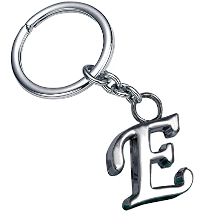 Amazon Com Stylish Letter E Simple Alphabet Key Ring Creative