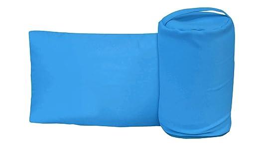 Almohada de viaje 30 x 50 cm - viscoelástica con funda, varios colores turquesa 30 x 50 cm