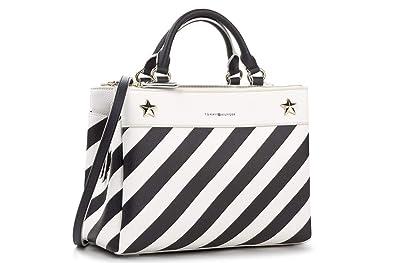 c13506dfbf Tommy Hilfiger AW0AW04944 Sacs Femme Blanc TU: Amazon.fr: Chaussures ...