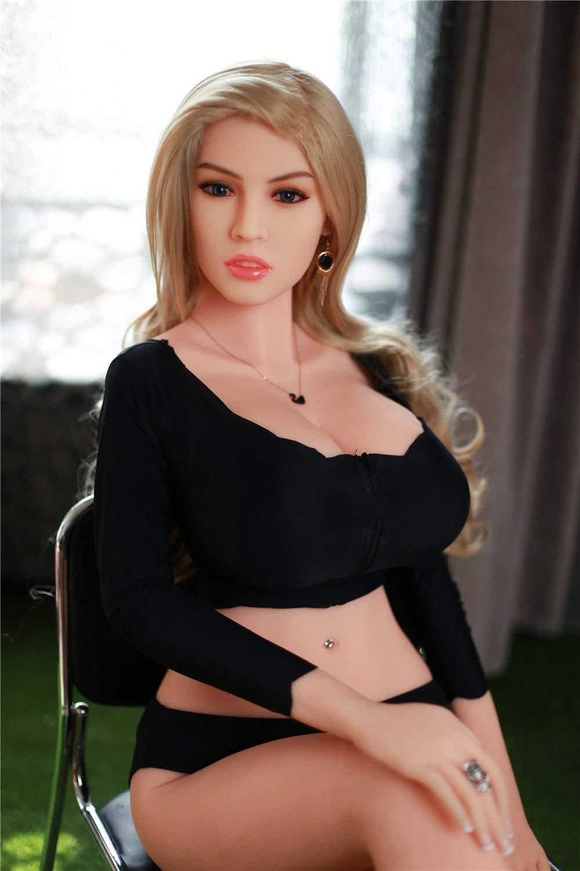 Ttot - Muñeca hinchable de 165 cm, silicona semisólida, muñeca ...