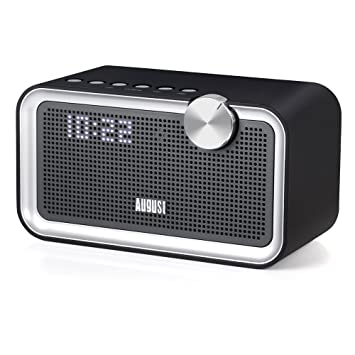 Bedside FM Radio with Bluetooth Speaker   August SE55   Enjoy Great  Sounding Music in your. Bedside FM Radio with Bluetooth Speaker   August SE55  Amazon co