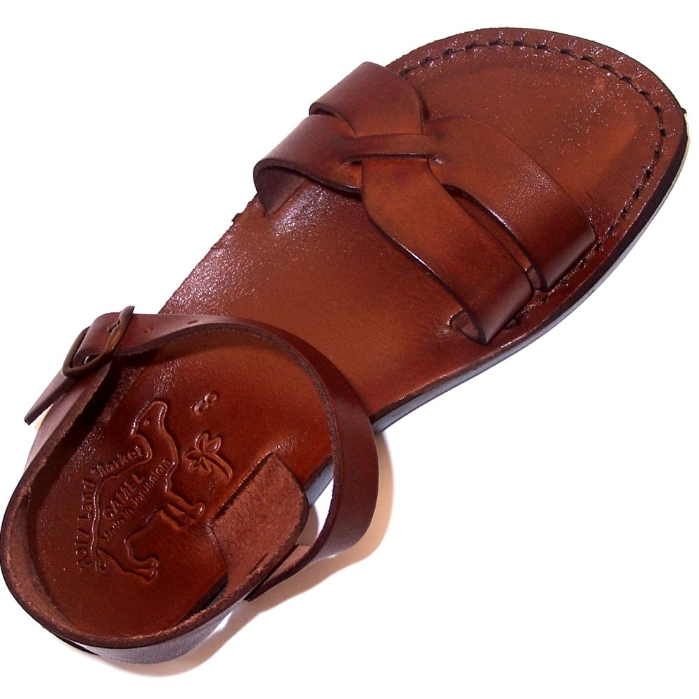Holy Land Market Unisex Leather Biblical Sandals (Jesus - Yashua) Yousef Style - EU 43