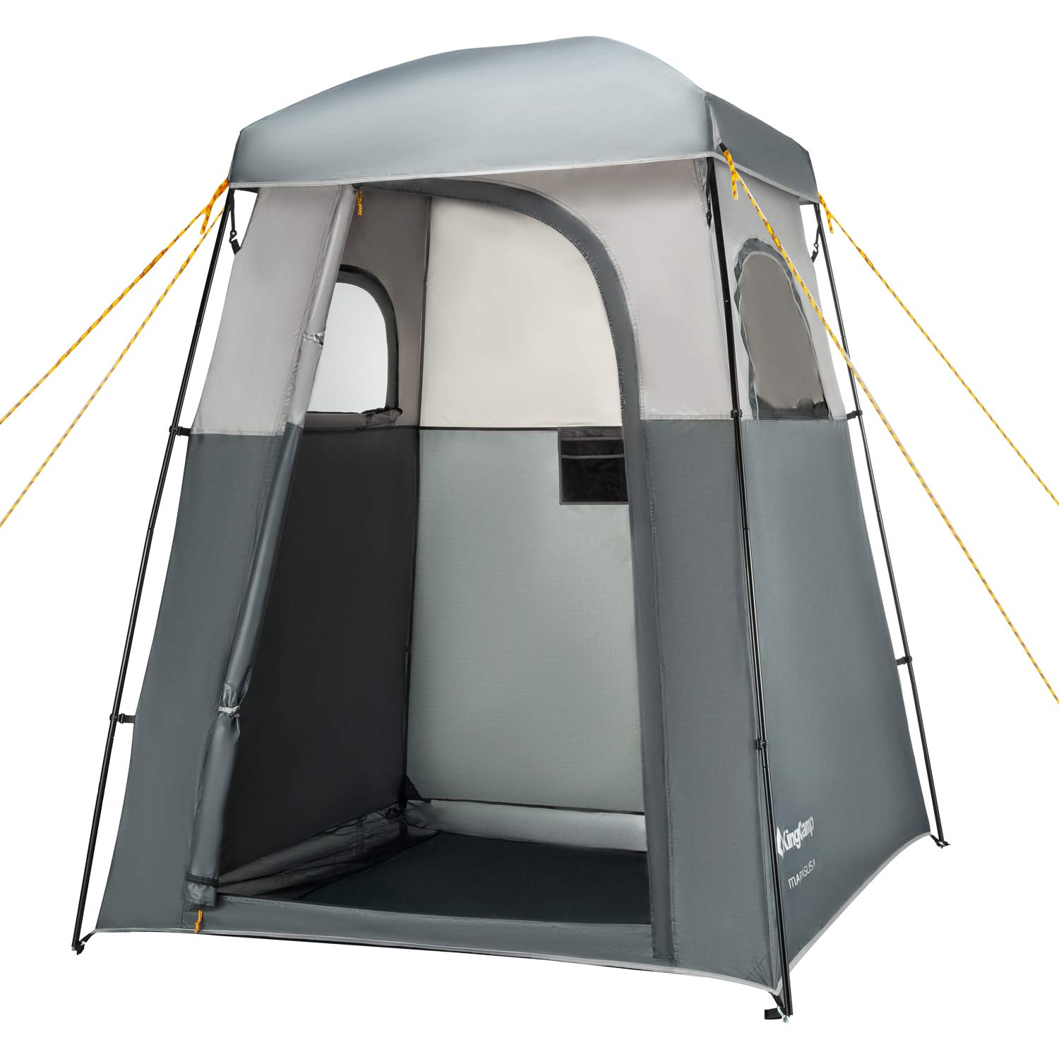 KingCamp Oversize Outdoor Easy Up Portable Dressing Changing Room Shower Privacy Shelter Tent (Grey Advanced) by KingCamp