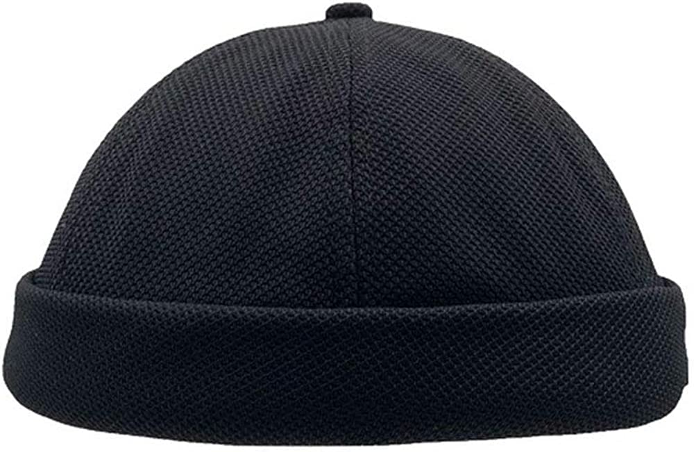 Clape Summer Commando Docker Leon Rolled Cuff Harbour Hat Breathable Mesh Design Retro Brimless Beanie Hat Unisex