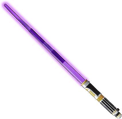 Amazon Com Star Wars Episode 3 Electronic Lightsaber Mace Windu Lightsaber Toys Games