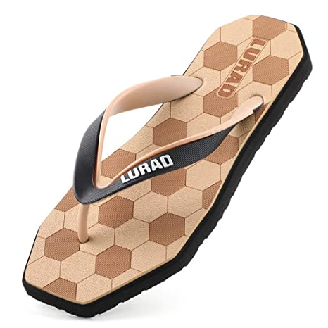b9ce3d0161cfdd HZH Football Shape Khaki Flip Flops Summer Men s Flat Heel Indoor Antiskid  Slippers Shock-Absorbing