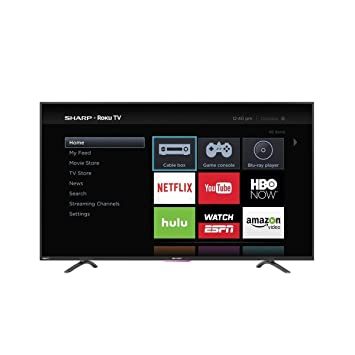 sharp 65 inch tv roku. sharp lc-50n4000u 50-inch 1080p roku smart led tv (2016 model) 65 inch tv