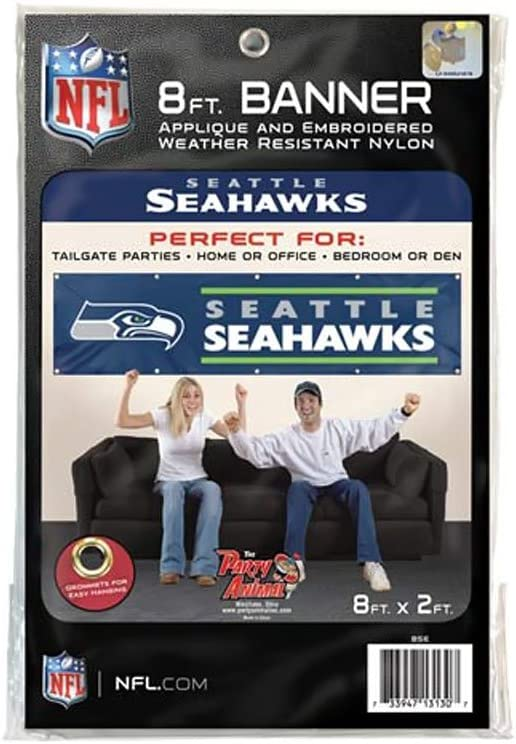 Party Animal Seattle Seahawks Giant 8 Team Banner