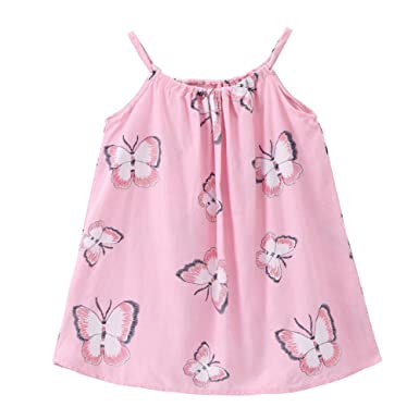 4443f9660bc0 Domybest 4-5T Cute Butterfly Print Princess A-Line Dresses Baby ...