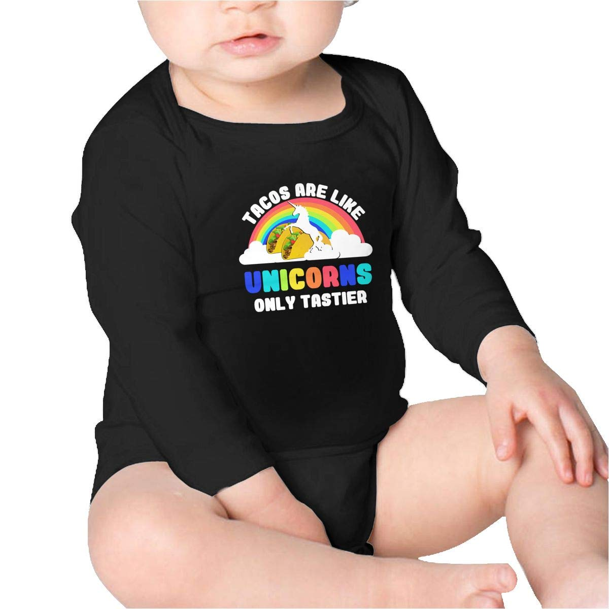 Tacos are Like Unicorns Only Tastier Kids Cotton,Long Sleeve Baby Romper