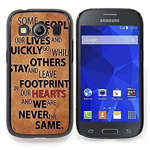 """Qstar Arte & diseño plástico duro Fundas Cover Cubre Hard Case Cover para Samsung Galaxy Ace Style LTE/ G357 (Relaciones Gente Quote Love Life Change"""")"""