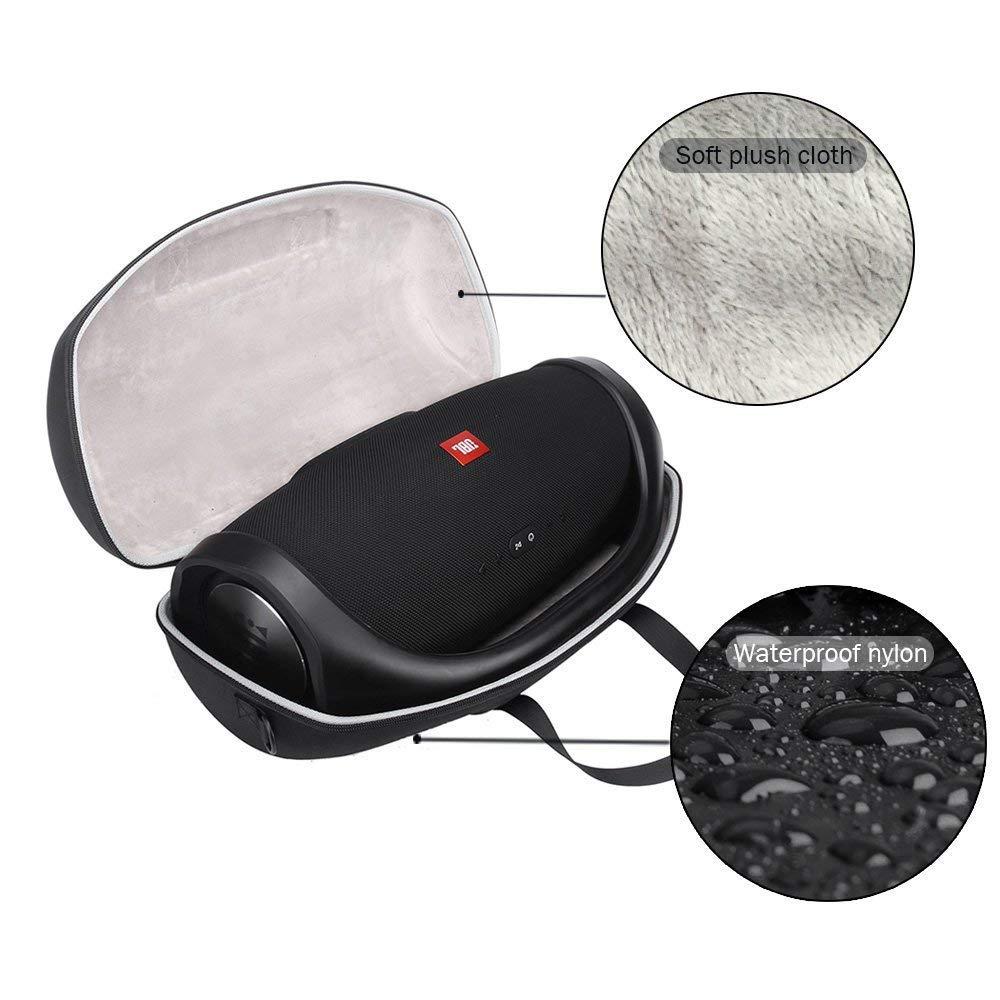 JBL Boombox ポータブルBluetooth防水スピーカー保護キャリーストレージバッグ用ハードトラベルケース 充電プラグUSBケーブルなどを収納可能   B07GVJMVY9