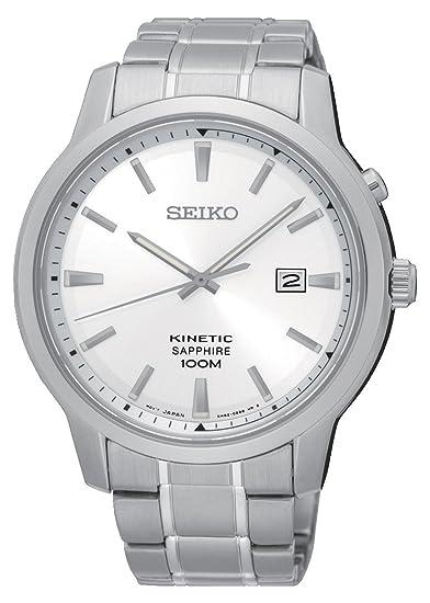 Seiko Reloj Analógico para Hombre de Kinetico con Correa en Acero Inoxidable SKA739P1: Amazon.es: Relojes