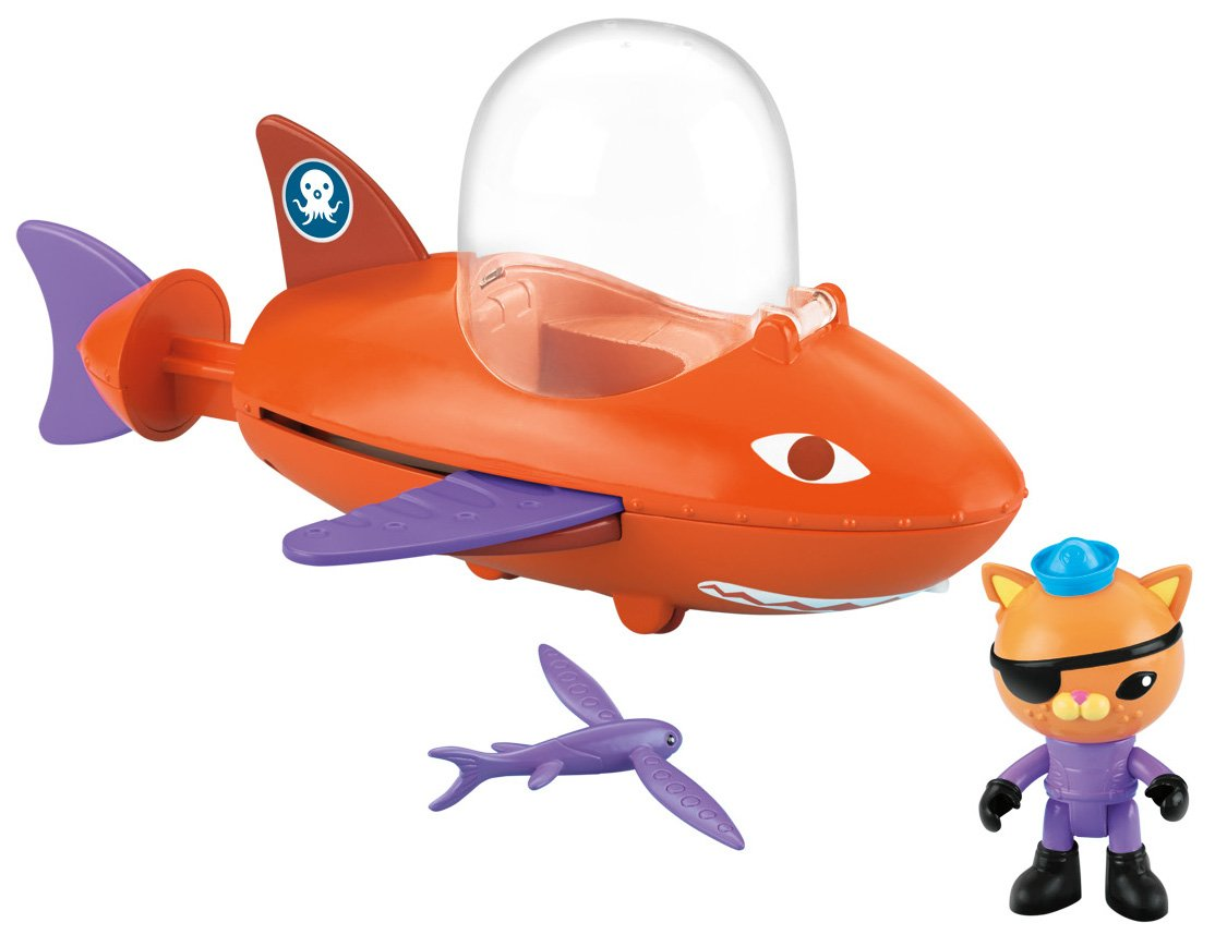 Fisher Price Toy - Octonauts Gup-B Flying Fish Playset with Kwazii Figure - Squirts Water Mattel Y9298