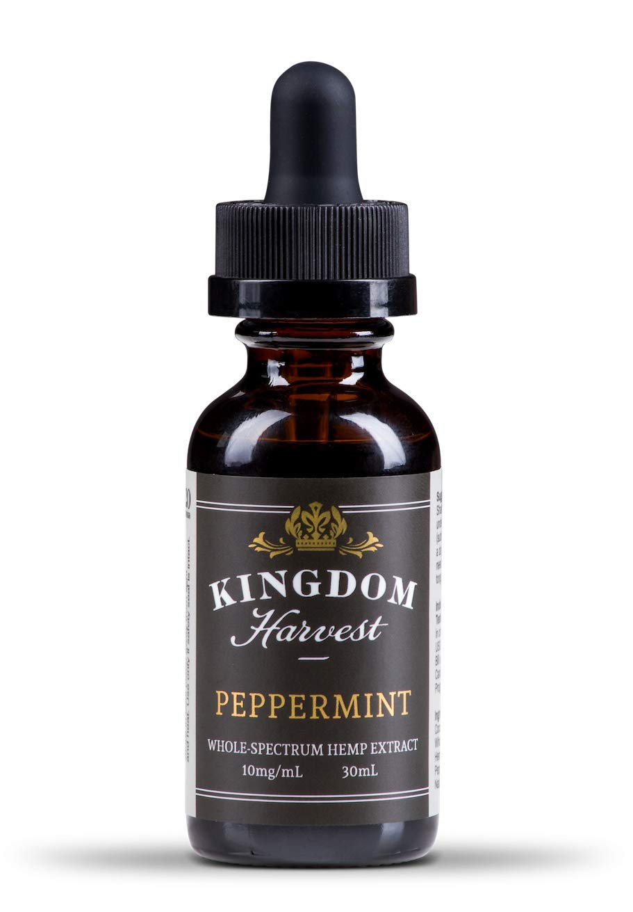 Kingdom Harvest Peppermint Hemp Extract Oil 30 mL- Pain and Anxiety Relief. Sleep Support. Inflammation. Reduce Stress