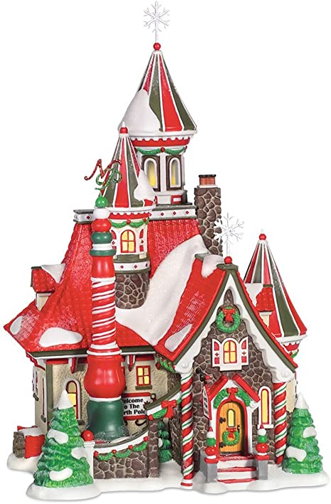 Multicolor 6 Department 56 North Pole Village Series The Fir Farm Lit Building and Accessories