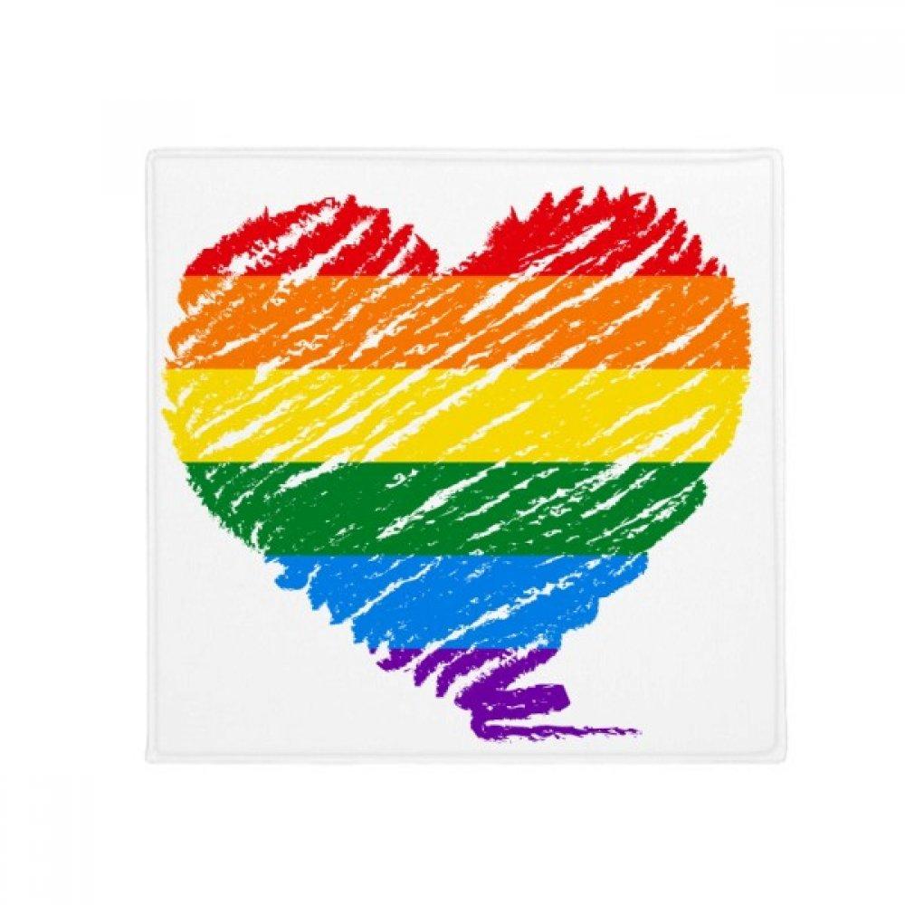 DIYthinker Rainbow Gay Lesbian Heart LGBT Anti-Slip Floor Pet Mat Square Home Kitchen Door 80Cm Gift