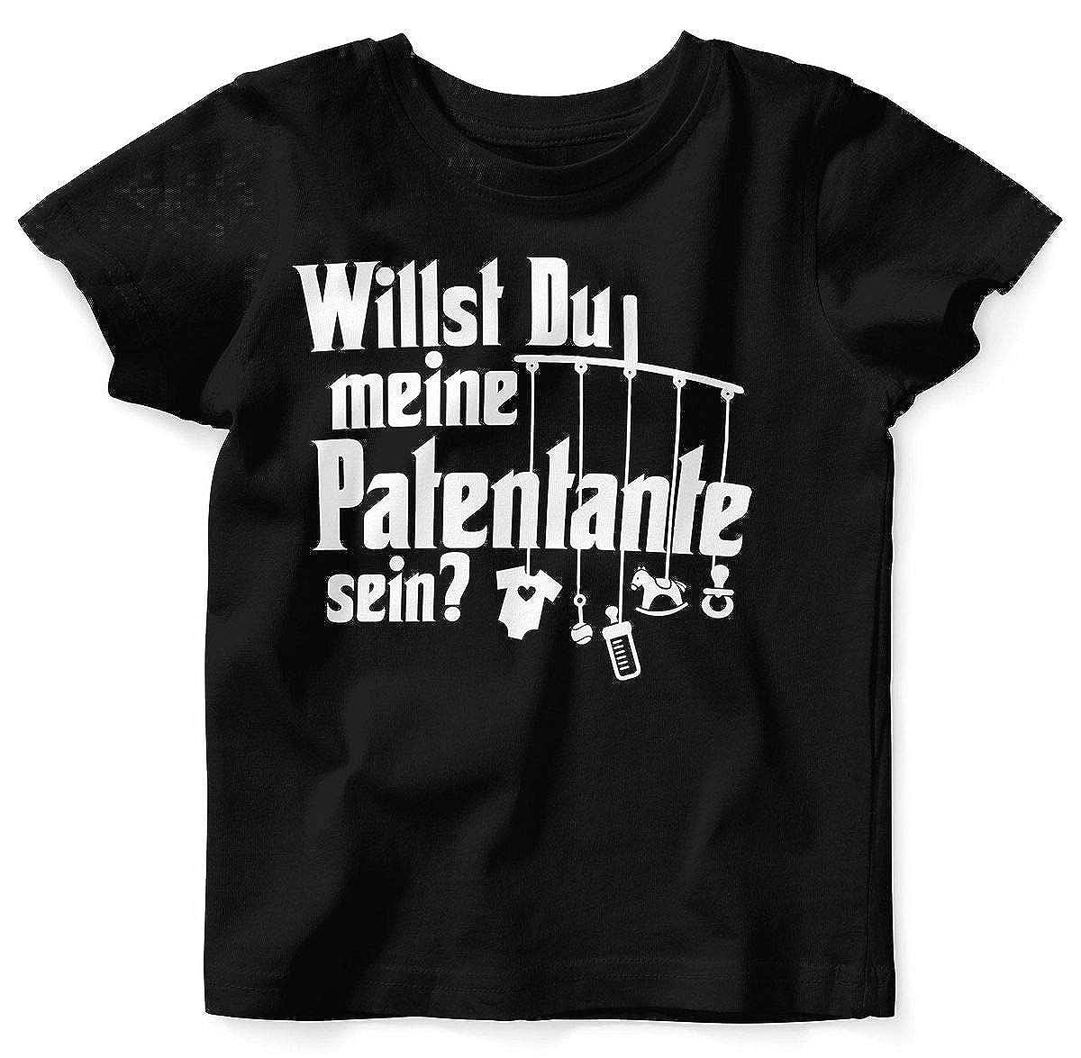 Mikalino Babybody mit Spruch f/ür Jungen M/ädchen Unisex Kurzarm M/öchtest du Meine Patentante Sein handbedruckt in Deutschland Handmade with Love