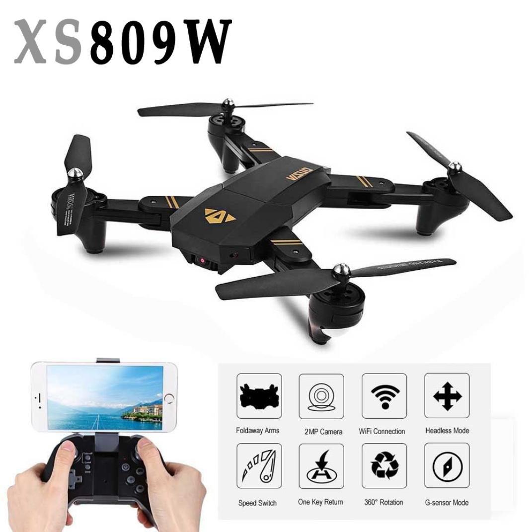 FEITONG Mini Drone XS809W Faltbare RC Selfie Drone Wifi Wifi Wifi Echtzeit FPV 2MP 120° FOV Quadrocopter 91c5d0