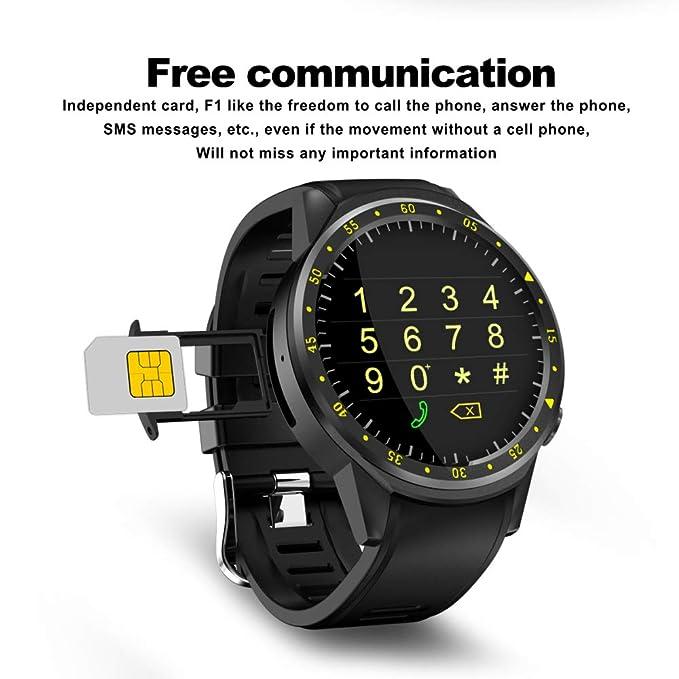 Four Perseguidor Impermeable De La Aptitud, Reloj Elegante del Deporte con La Cámara GPS Bluetooth Smartwatch, Ritmo Cardíaco Y Monitor De La Presión ...