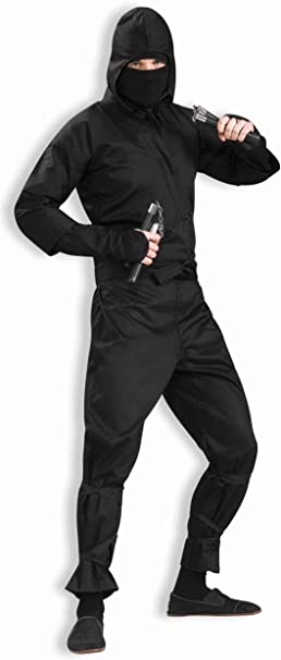 Forum 75571-BLK-XL Mens Deluxe Ninja Adult Costume, X-Large, Black, Pack of 1