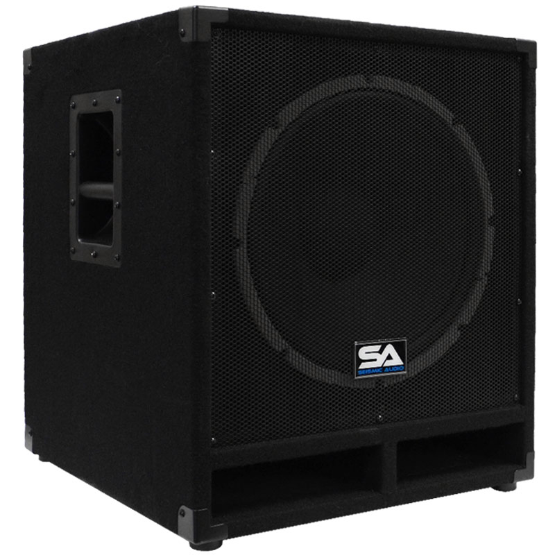 seismic audio baby tremor pw powered 15 inch pro audio subwoofer cabinet 300 watts rms pa dj. Black Bedroom Furniture Sets. Home Design Ideas