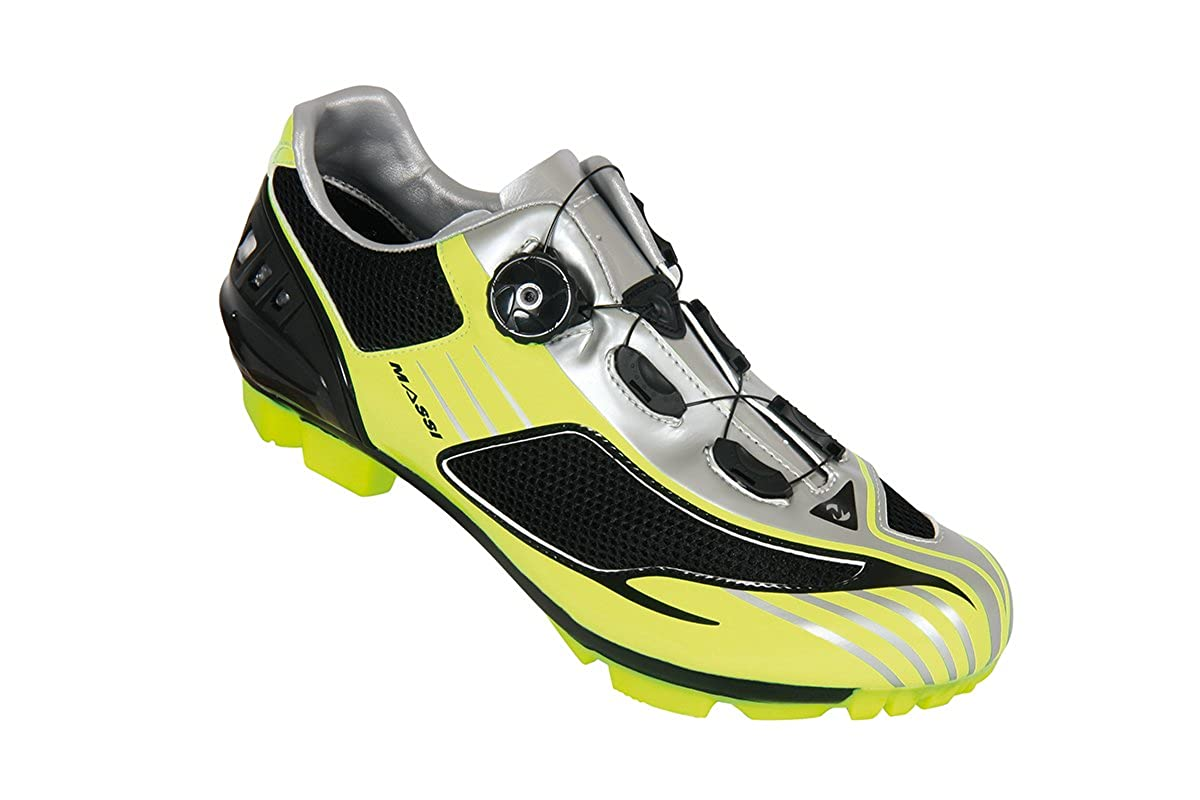 Massi Drake - Zapatillas de Ciclismo MTB Unisex, neón