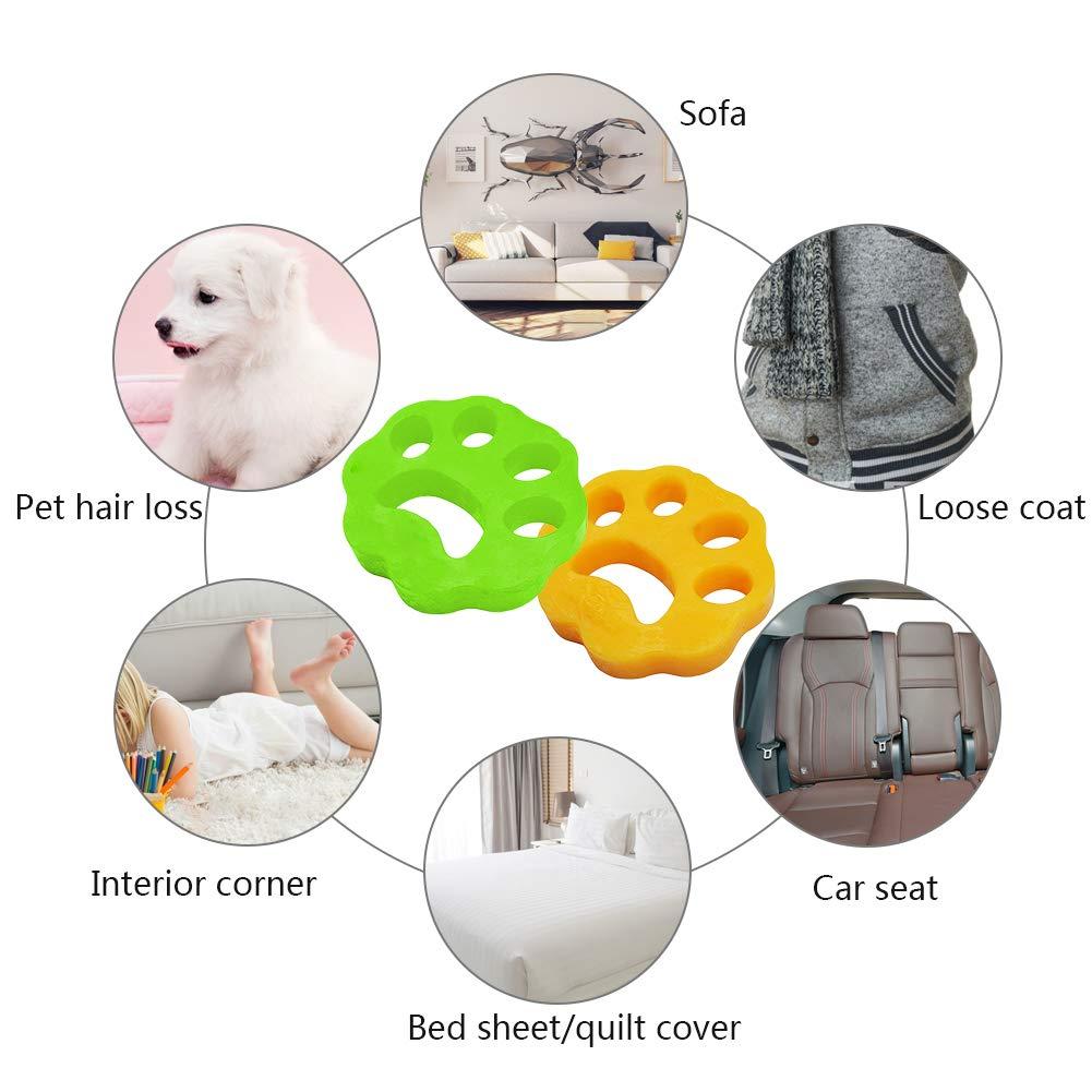Doyime 1 ST/ÜCKE Gr/üne 1 ST/ÜCKE Gelbe Gr/ünW/äsche Haarentferner B/älle Reinigung Ball Waschmaschine Pet Haarentfernung F/ür W/äsche