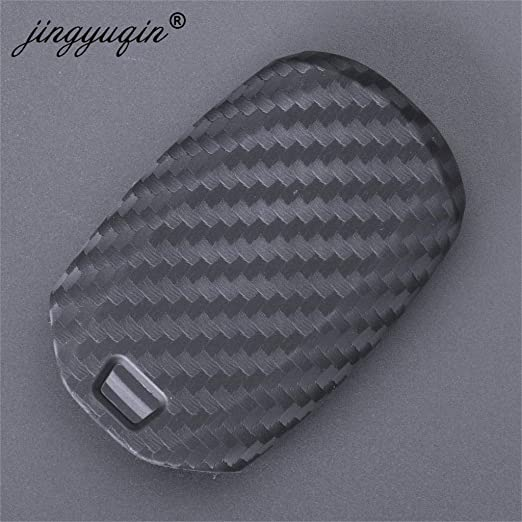 Amazon.com: AjaxStore - 3/4 Buttons Carbon Car Key Case For ...