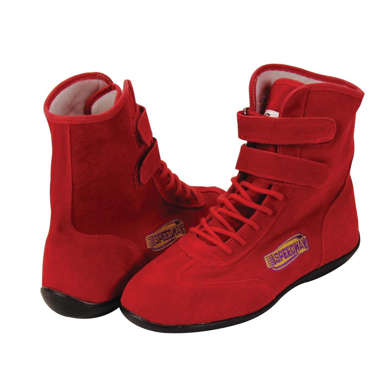 Black Hightop Racing Shoes, 9.5, SFI 3.3/5, Flexible Leather