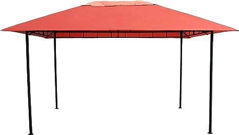 GRASEKAMP Qualität seit 1972 Amalfi Flex - Cenador de 3 x 4 m, Metal, Color Tierra: Amazon.es: Hogar