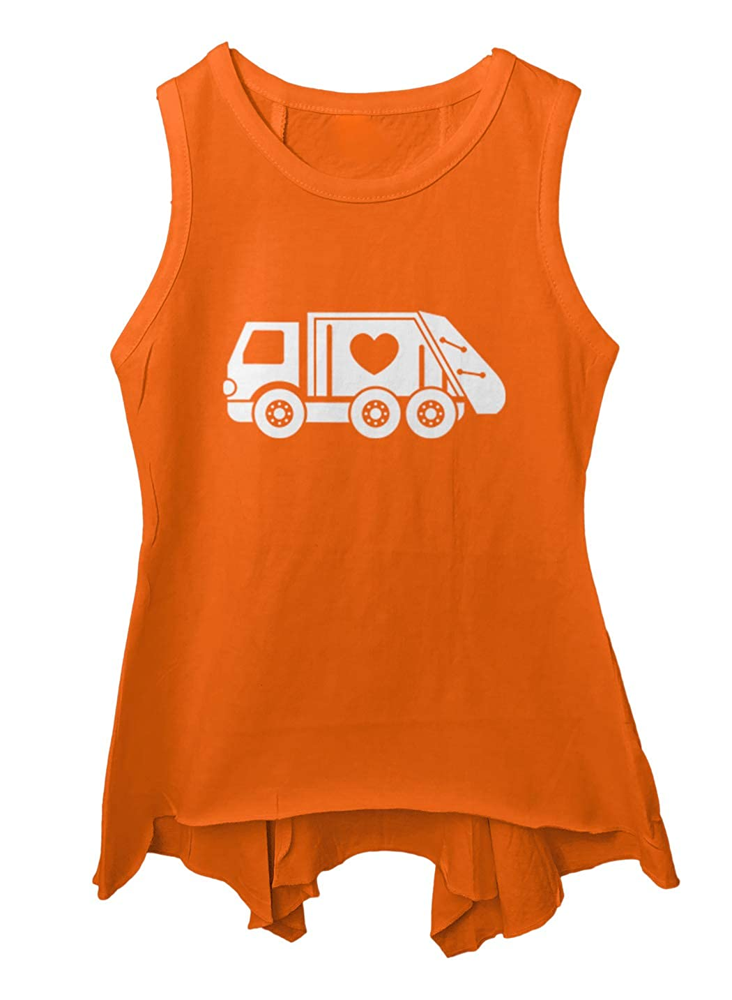 Valentines Garbage Truck Trashman Toddler//Youth Sleeveless Backswing