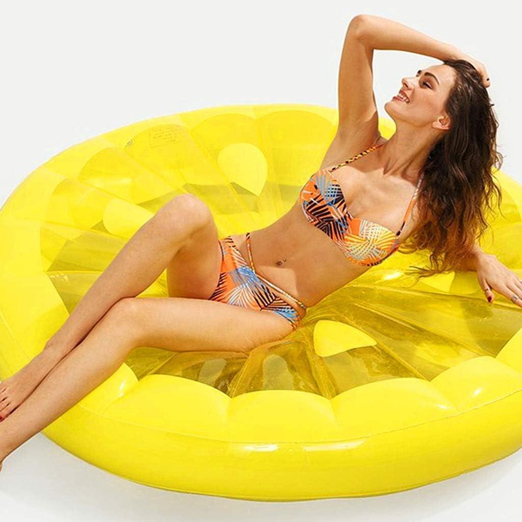 LCYCN Flotador Juguete Hinchable para Piscina,143CM Inflable Redondo limón Flotante Fila, Piscina de Juguete Tumbona para Verano Fiesta Playa Vacaciones