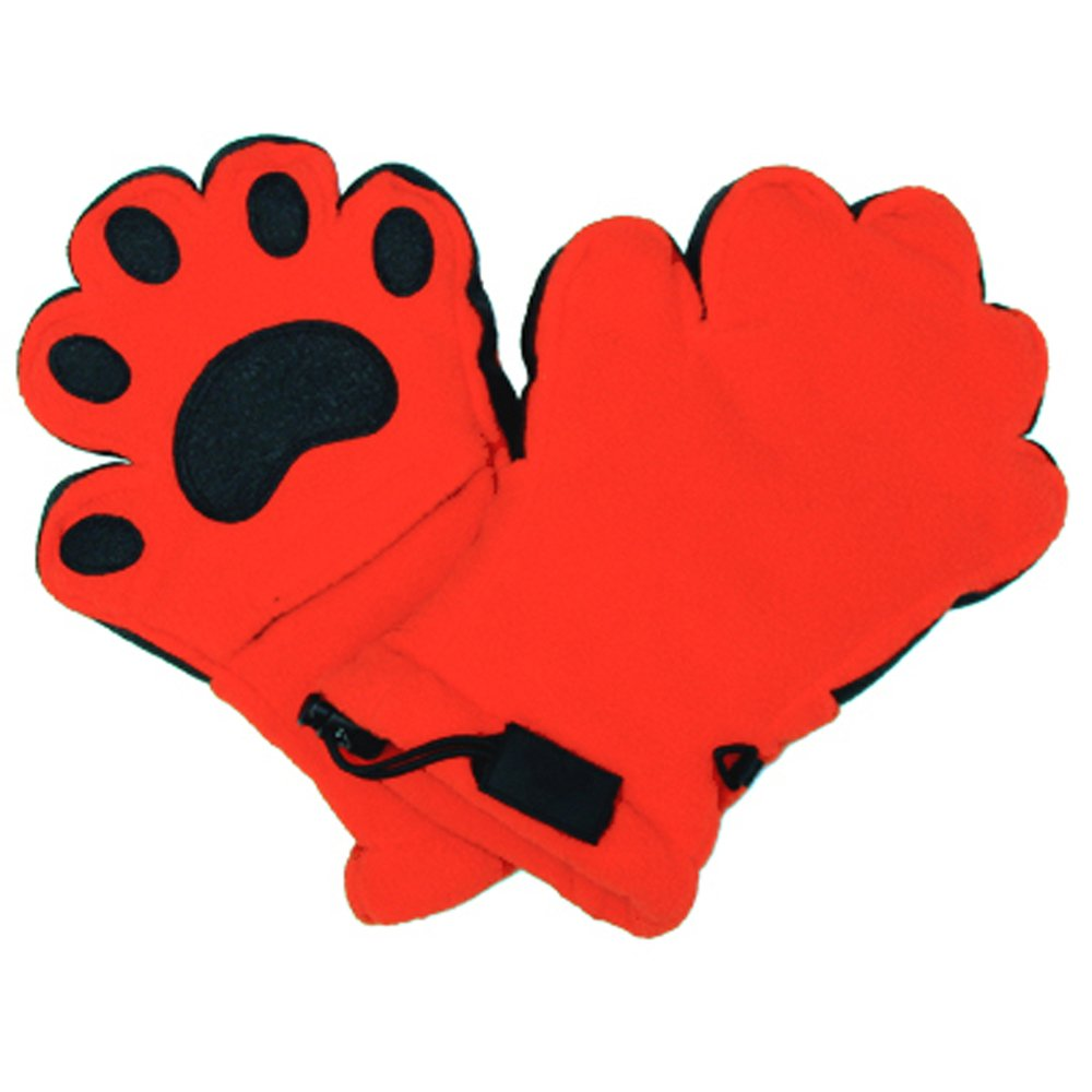BearHands ThinsulateTM Fleece Mittens - with handy flap opening for when fingers are needed! (Child Small 3-7 years) - Orange