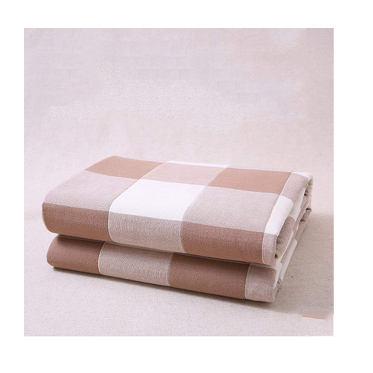 Ggsrtesxs Adult Baby Women's Absorbent Premium Quality Bed Pad Stylish Plaid Padded Cotton Breathable Non-Slip Pads Quilted Waterproof Reusable Washable,Brown,90x116cm