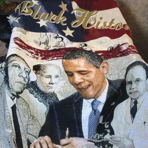 African American Expressions - Black History Woven Tapestry Throw (4' x 5') TH26 ()