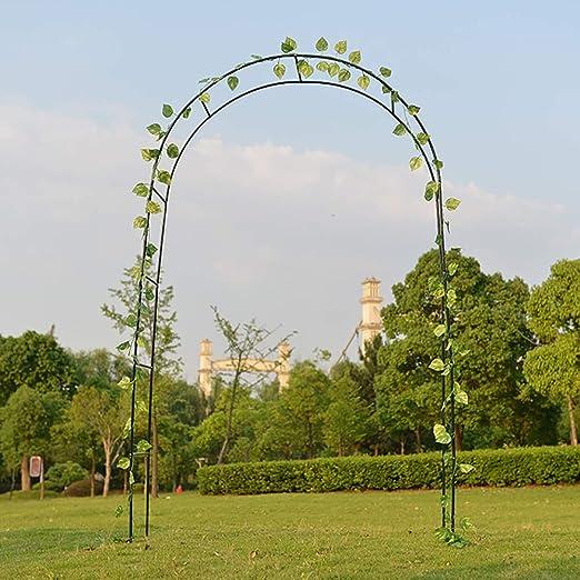 Arco de jardín 2.4m Soporte de escalada para plantas de metal Arco enrejado Arco de metal decorativo tradicional Jardín Arco de arco rosa Soporte de planta para rosas Soporte de plantas trepadoras: