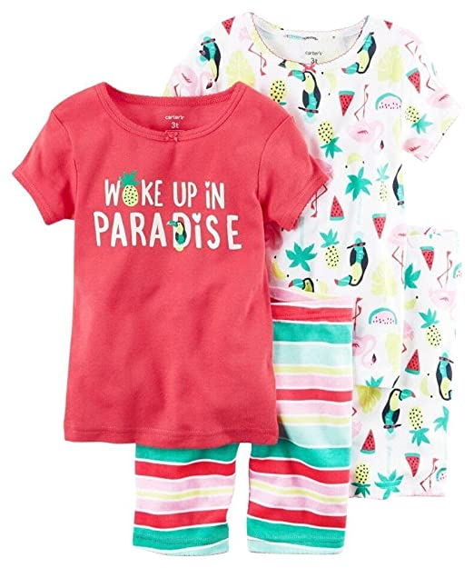 d982f8d6e Amazon.com  Carter s Girls  Toddler 4 Piece Cotton Sleepwear  Clothing
